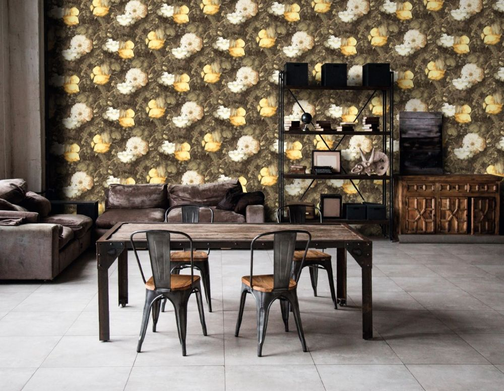 AS Creation Living Walls Floral Yellow Texture 36921-1 Wallpaper